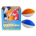 Football Foam 5.375in 3ast Colors 24pc Pdq/ea With Label