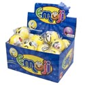 Emoticon Soft Squeeze Ball 3in Assorted Faces In 24pc Pdq
