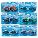 Swimming Goggles 2 Styles Each In 3 Asst Colors Adult Size Summer Blister Card