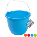 Bucket W/handle Bright Colors Green/blue/pink/orange 8.5x6.5in Ht