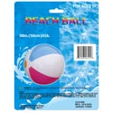 Beach Ball Inflatable 20in Dia Multicolor Panels Plastic Pb/ins
