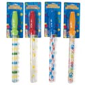 Bubble Baton Stick 15in 4asst Print Barrels Half Blstr Card
