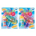 Bubble Gun W/friction Try Me Light Up W/bubble Solution 2ast