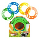 Ninja Flying Disc Plastic 4ast Colors 10x10in/48pd Pdq Upc Labl