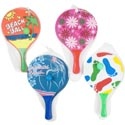 Paddle Ball Beach Game Set 4ast 2 Paddles W/ball Meshbag W/ht