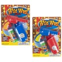 Cowboy Bubble Gun Friction Action W/2oz Bubble 2ast Clr Blue/red Blister Card