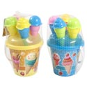 Beach Play Pail Set Ice Cream 6pc 2asst W/tools & Molds/ht