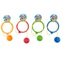 Ankle Skip Ring W/rope & Ball 4ast Colors/hdrcrd Ring 6ind Ball 2.75ind
