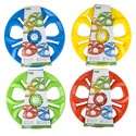 Flying Disc Light Up 4ast Colors 9in/peggable Tieoncard
