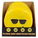 Flying Disc Emoticon Faces 4ast 9.84in In 36pc Pdq