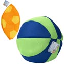 Inflatable Soccer/beach Ball Mesh Covered Rubber 10in 2ast Flat Pack Ea/ht J/hook