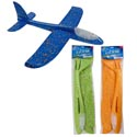 Foam Flying Plane 19in 3ast Color Change Light Up/pbh Orange/green/blue