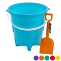 Sand Bucket Plastic 8in W/shovel 6ast Solid Colors/ht