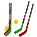 Hockey Playset 28in Plastic Toy 2 Sticks/1 Puck Mesh Bag/ht