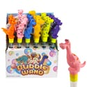 Bubble Wand Dinosaur 13in 2 Oz. 6asst 24pc Pdq/ht