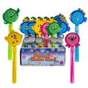Bubble Wand W/animal Clapper 11in 2oz/60ml 4asst In 24pc Pdq