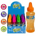 Bubbles 8 Oz Bottle Scented W/wand 4ast Scents In 16pc Pdq Strawberry/apple/orange/grape