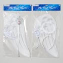 Angel Wing Costume White** ** W/wand Or Halo Polybag/hdr