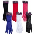 Gloves Long Dress-up 16in 5 Poly/1 Lace 5colors Pbh Pink/white/blk/red/purple