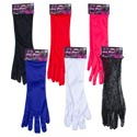Gloves Long Dress-up 16in** **5 Poly/1 Lace 5colors Pbh Pink/white/blk/red/purple