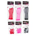 Costume Fishnet Fingerless Gloves 2 Styles/3 Color Ea On Hand Shaped Card In Pb W/header
