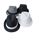 Gangster Hat Striped/checkered Black And White 4ast Designs Flapper Art Ht/jhook