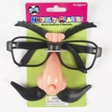 Glasses Novelty W/moving Stache & Eyebrows 12pc Mdsgstrip/tiecrd