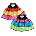 Skirt Satin Day Of The Dead 2ast Youth Tricolor Dress-up Deluxe 3-tiered On Hanger Card