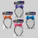 Headband W/hair As Ribbon Bow 4ast Colors/12pc Mdsgstrip Pbh Equally Asst Colors Per Cs