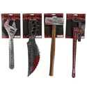 Weapons Bloody Costume Acc 4ast 17.7-20.9in 2 Wrench/hammer/saw 1/2 Tie Card