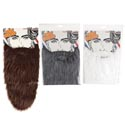 Beard Fake 3asst Extra Long 14in Grey/white/brwn W/elastic String Insert Card Pbh