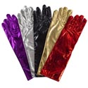 Gloves Costume Dress Up 13in Pleather 5ast Colors Pbh Black/gold/silver/red/purple