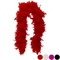 Boa Maribu Feather 48in Deluxe 4ast Red/blk/white/hot Pink 35g Barbell Card