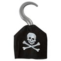 Pirate Hook Plastic W/nonwoven Fabric Sleeve Skull Decal/pbh