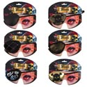 Eyepatch 6ast Costume Accessory Polyester/illus Backer/opp Bag