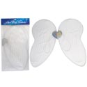 Angel Wing Costume White W/glitter 18.9 X 14.96in