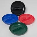 Ashtray 7in Round Melamine 4asst Colors Upc Label