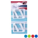 Tablecloth Clamps 4pk Spring- Loaded 4ast+white Summer Colors Summer Blister Card