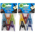 "Clips Multi-purpose Vinyl Coated 6pk Ast Color 2.25""l 12pc Mgstrp Pbh"