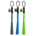 Shoe Horn Plastic W/loop 3ast*** ***12in Blade/15in Overall Home Hangtag/blue-green-gray