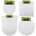 Lace Doily/runner 1/2/3pk Asst White Round/rect/oval Shapes Home Tcd