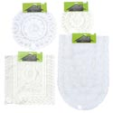 Lace Doily/runner 1/2/3pk Asst White/cream Polyester Rnd/rect Oval Shapes Home Tcd