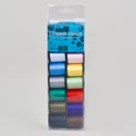 Sewing Thread 12 Pk 25yd Each Poly Spool Asst Colors Sewing Acetate Box