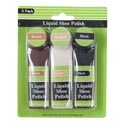 Shoe Polish Liquid 3pk Brown/white/black 0.84floz/25ml Houseware Blister Card