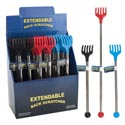 Back Scratcher Extendable 3asst Colors In 24pc Pdq