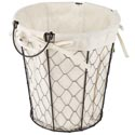 Wire Basket W/cotton Liner Round 9.75h X 9.5dia