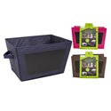 Storage Bin Collapsible Nonwoven W/chalkbrd Writing Surface 3ast 15.75x11.42x9.06in/sleeve Car