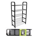 Shoe Rack Rta Holds 10 Pairs 16.75 X 27.5 X 7.5in Shrink/lbl