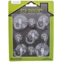 Hooks Suction Cup 9pc Clear 2lg/3med/4sm W/wire Home Blc No Amazon Sales