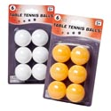 Table Tennis Balls 6pk 32pc White/16pc Orange Per Case Blister Card